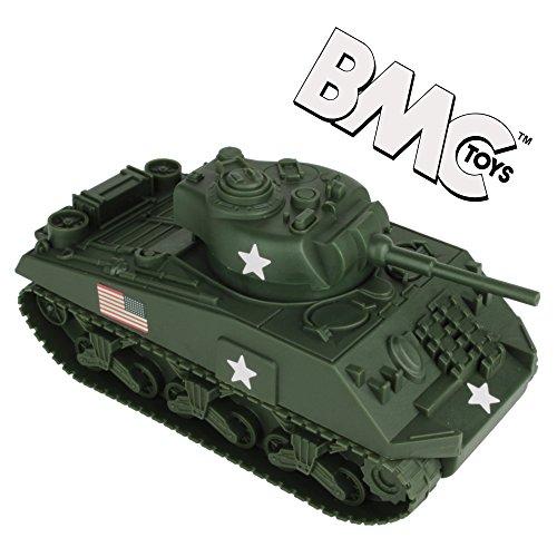 BMC WW2 Sherman M4 Tank - Dark Green 132 Military Vehicle for Plastic Army Men