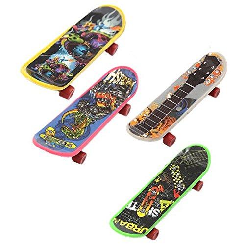 Finger Board - TOOGOORMini 4 Pack Finger Board Tech Deck Truck Skateboard Toy Gift Kids Children Gift 95mm