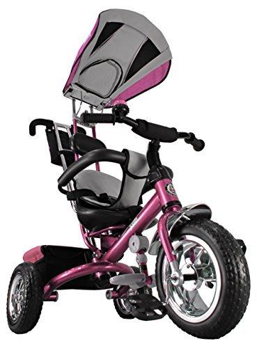 Kiddo 2016 Pink Smart Design 4-in-1 Childrens Tricycle Kids Trike 3 Wheel Bike Parent New Pink by Kiddo by Raygar
