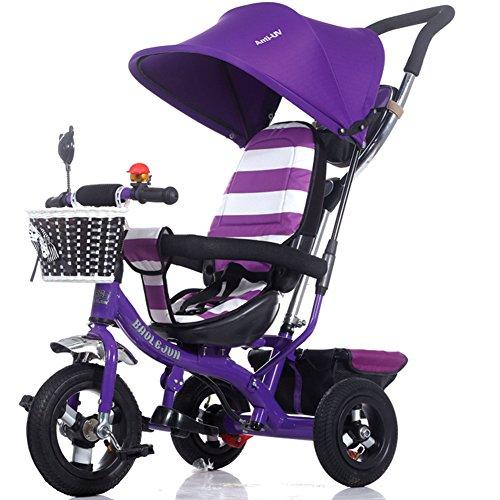 OLizee Multi-purpose Baby Kids Child Trike Bike Tricycle Stroller Pram Toddler Push Ride Pushchair Purple