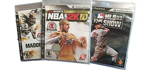 PS3 Bundle 3 games MLB 09 NBA 2K10 Madden 10