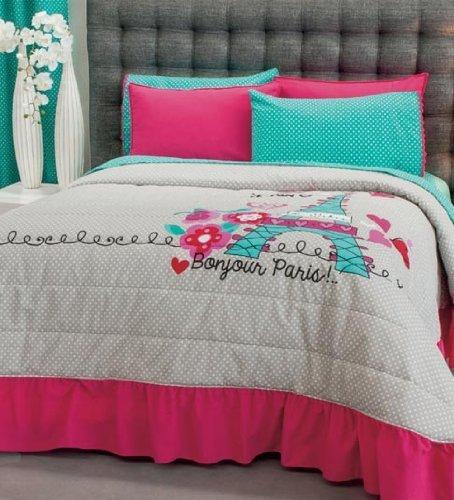 Paris Bedding Collection Bedspread Set Sheet Set and Window Panel Fullqueen