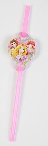 Disney Princess Set of 24 Decorative Disposable Straws 2-Pack