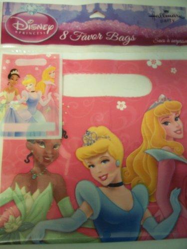 Disney Princess Set of 8 Favor Bags ~ Tiana Cinderella Sleeping Beauty