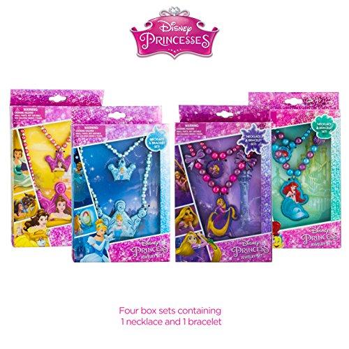 Disney Princess set of four box sets containing 1 necklace and 1 bracelet