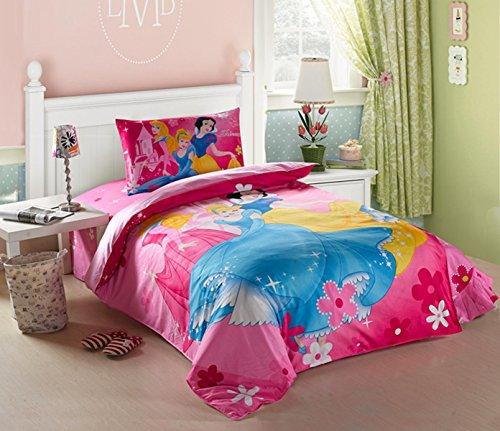 CASA Children 100 Cotton Beautiful three princesses Duvet cover Pillow cases Flat sheet3 PiecesTwin Extra-Long