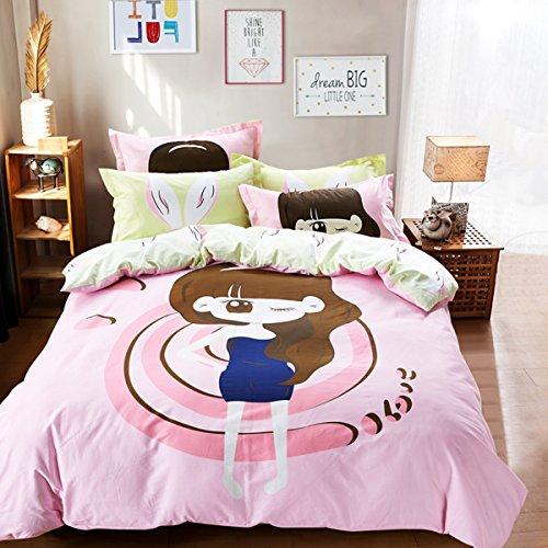 CASA Children 100 cotton series Fashion Princess Duvet cover Pillow case Flat sheet4 PiecesQueen