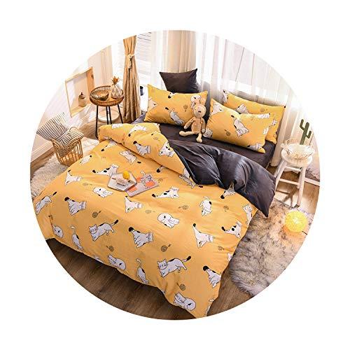 sunshine-xj 3pcs4pcs Cotton Bedding Sets Coral Fleece Duvet Cover Flat Sheet Pillowcase Winter Warm Flannel Bed Set Kids Bedding Sets11for 15-18M Bed-4pcBed Sheet