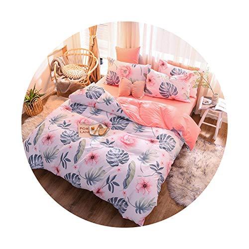 sunshine-xj 3pcs4pcs Cotton Bedding Sets Coral Fleece Duvet Cover Flat Sheet Pillowcase Winter Warm Flannel Bed Set Kids Bedding Sets16for 12M Bed-3pcBed Sheet