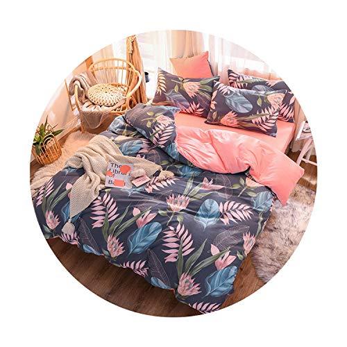 sunshine-xj 3pcs4pcs Cotton Bedding Sets Coral Fleece Duvet Cover Flat Sheet Pillowcase Winter Warm Flannel Bed Set Kids Bedding Sets17for 2M Bed-4pcBed Sheet