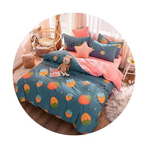 sunshine-xj 3pcs4pcs Cotton Bedding Sets Coral Fleece Duvet Cover Flat Sheet Pillowcase Winter Warm Flannel Bed Set Kids Bedding Sets21for 15-18M Bed-4pcBed Sheet