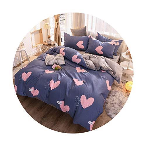 sunshine-xj 3pcs4pcs Cotton Bedding Sets Coral Fleece Duvet Cover Flat Sheet Pillowcase Winter Warm Flannel Bed Set Kids Bedding Sets22for 12M Bed-3pcBed Sheet