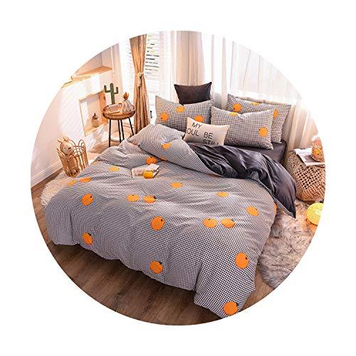 sunshine-xj 3pcs4pcs Cotton Bedding Sets Coral Fleece Duvet Cover Flat Sheet Pillowcase Winter Warm Flannel Bed Set Kids Bedding Sets4for 2M Bed-4pcBed Sheet