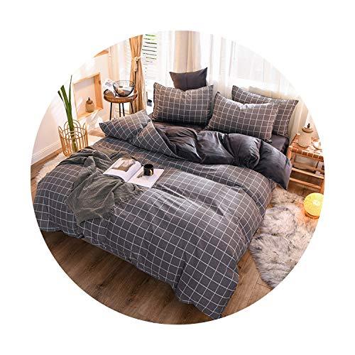 sunshine-xj 3pcs4pcs Cotton Bedding Sets Coral Fleece Duvet Cover Flat Sheet Pillowcase Winter Warm Flannel Bed Set Kids Bedding Sets5for 2M Bed-4pcBed Sheet