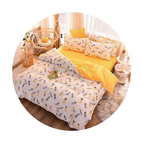 sunshine-xj 3pcs4pcs Cotton Bedding Sets Coral Fleece Duvet Cover Flat Sheet Pillowcase Winter Warm Flannel Bed Set Kids Bedding Sets7for 12M Bed-3pcBed Sheet