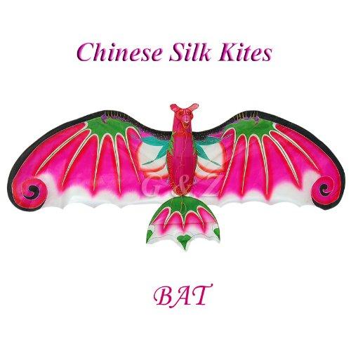 43W Pink 3D Silk Bat Kite - Chinese Handmade Kites