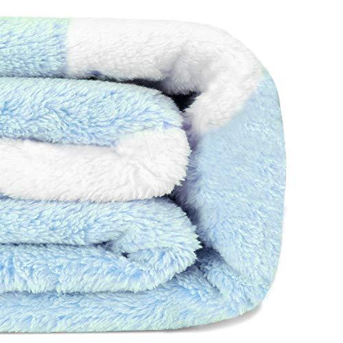 LAGHCAT Cat Throw Blanket Cartoon Print Blankets for Girls Super Soft Lightweight Cozy Plush Blue Flannel Bed Blanket for Kids Twin Size Minky Blanket 59x79 inch Blue