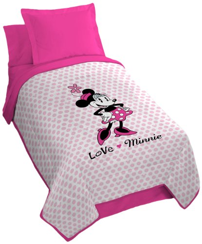 Disney Minnie Classic Falling Dots Microfiber Blanket