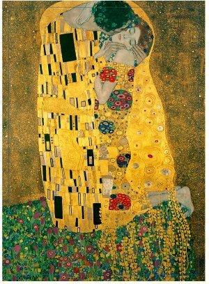 GOLDENPIECE Klimt KISS masterpiece print mini blanket 29 x 40inch-ultra soft microfiber safe atopi skin Deep black package