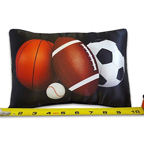 Boys Sports Tooth Fairy Aromatherapy Pillow 10 x 7 Sports Balls
