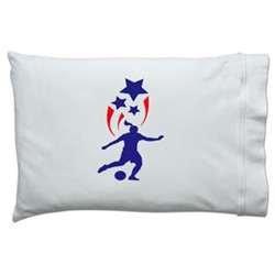 ChalkTalkSPORTS USA Spirit Soccer Girl Pillowcase