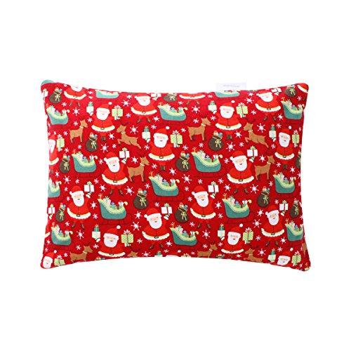 Christmas Gift Cotton pillowcase Hidden Zipper Closure Hypoallergenic 1pc 19 Momme 13x18 Santa Claus