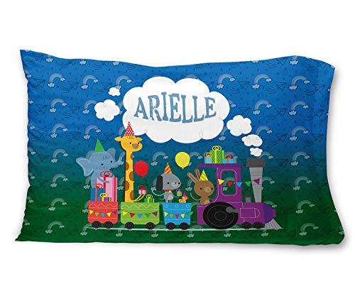 Bad Bananas Animal Trains - Kids Custom Personalized Customized Microfiber Pillowcase Gift for Children Pillow Cover Sham