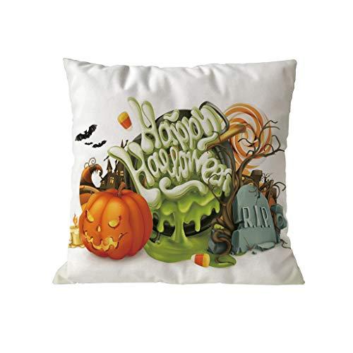 CCatyam Halloween Pumpkin Soft Microfiber Home Decor Pillowcase Throw Pillow Cushion Cover 18 x 18 Inches