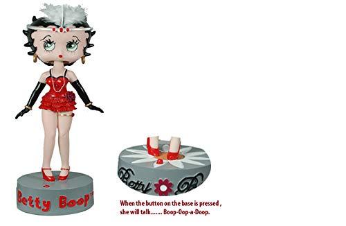 Betty Boop IC Talking BobbleHead Full Body Polyresin Figure Doll Bobble Wobble Head Flapper
