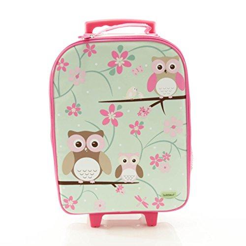 BobbleArt Wheelie Travel Bag- Owl