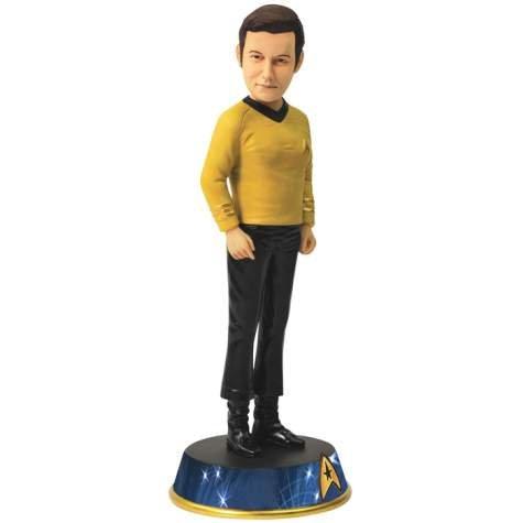 Star Trek TV Series Theme Bobble Head with Captain Kirk Figurine