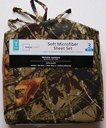 Camouflage Print Microfiber Twin Sheet Set 3 Pc Set