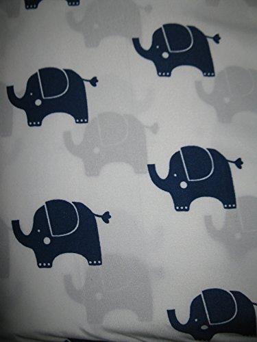Dream Space Navy Blue Elephant Microfiber Sheet Set Twin