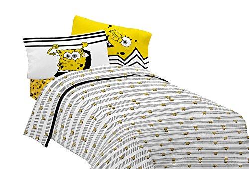 Nickelodeon Sponge Bob Try Angle Microfiber Sheet Set Twin