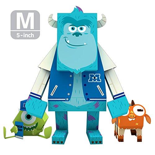 MOMOT Paper Craft Toy - Pixar Monster University SULLEY 5-inch M Size 13cm