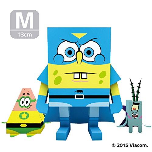 MOMOT Paper Craft Toy - SPONGEBOB SUPER SPONGE 5-inch M Size 13cm