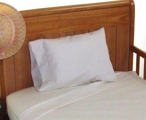 ChildToddlerTravel size 14x21 Junior Pillowcase 100 cotton Color WHITE