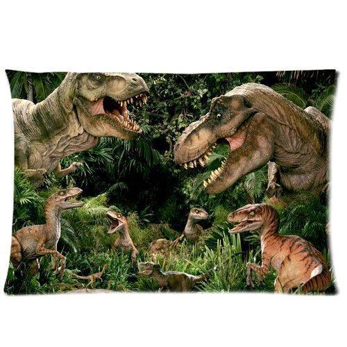 PbP Cool Jurassic Park Dinosaur Tyrannosaurus Rex Custom Pillow Case Cotton 20X30 Queen Size Diy Bedding Pillowcase