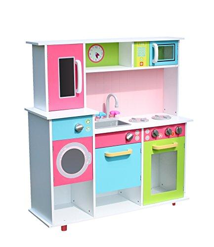 Modern Large Gourmet Wooden Kitchen Toy Pretend Kids children role play set by Oye Hoye - Muticolored
