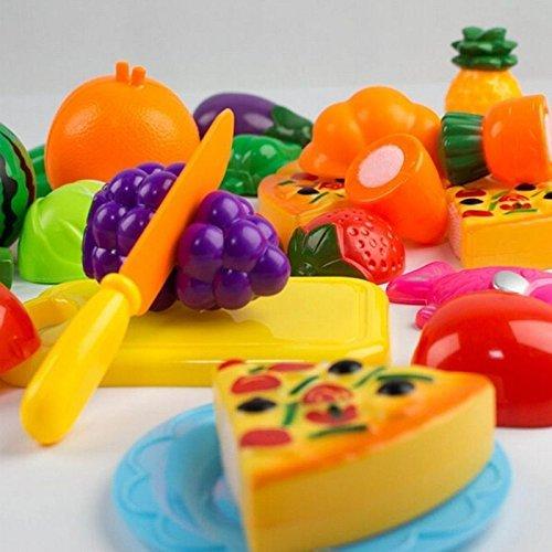 Childrens Basic Skills Development Toys Newly Kitchen Food Pretend Play Educational Toys Fruit Vegetable Child Gift Set Toys Set fruit Tools Kids