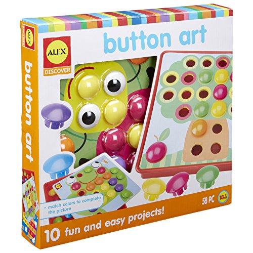 Alex Discover Button Art Activity Set Kids Art and Craft Activity
