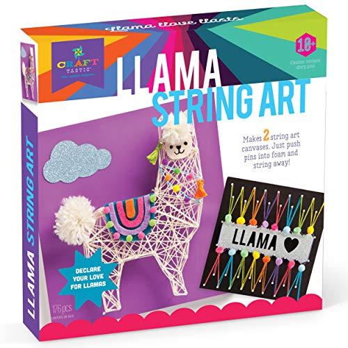 Craft-tastic - String Art Kit - Craft Kit Makes 2 Large String Art Canvases - Llama Edition