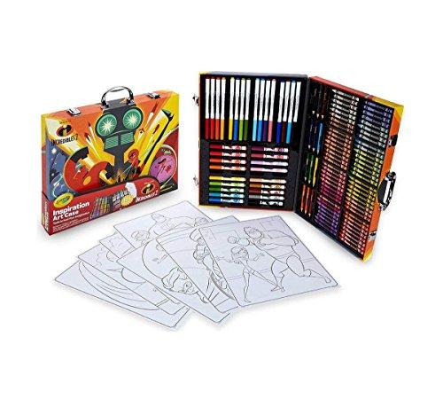 Crayola 516910 04-3315 Disney Pixar Incredible 2 Inspiration Art Case 125 Pieces Art Gift for Kids 5 Up