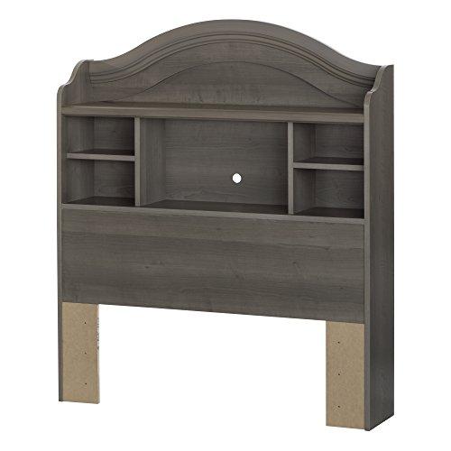 South Shore Savannah 39 Bookcase Headboard Twin Gray Maple