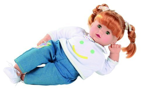 Gotz Maxy Muffin 165 Baby Doll with Red Hair in Braids and Green Sleeping Eyes by Gotz