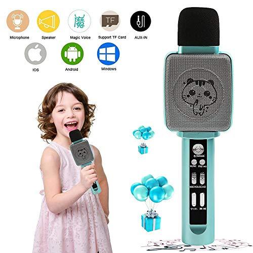 TSUN Kids Karaoke MachineWireless Portable Handheld Karaoke Microphone with Bluetooth SpeakerEchoVoice Changer and Song RecorderBest Karaoke Microphone for KidsTop Birthday Gifts for Girls Boys