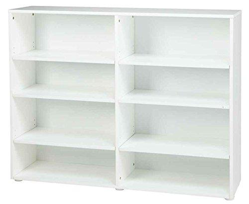 Kids Wooden Bookcase w 8 Shelves