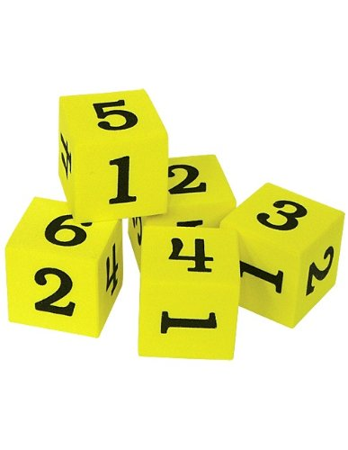 Teacher Created Resources Foam Numbered Dice 20604