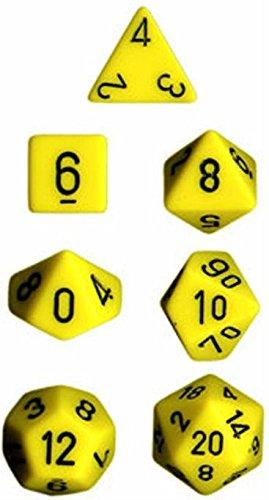 Chessex CHX25402 Dice - Opaque 7Pc YellowBlack