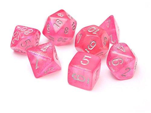 Chessex CHX27404 Dice-Borealis PinkSilver Set